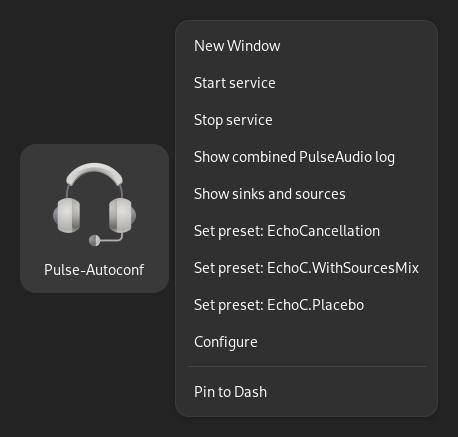 Pulse-Autoconf Desktop Entry